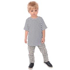 Diamond Black White Shape Abstract Kids  Raglan Tee