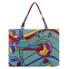 Abstract Machine Medium Zipper Tote Bag