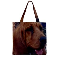 Bloodhound  Zipper Grocery Tote Bag