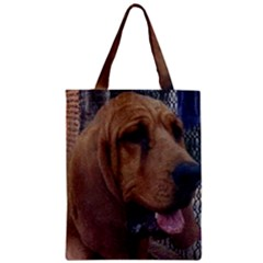 Bloodhound  Zipper Classic Tote Bag