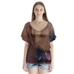 Bloodhound  Flutter Sleeve Top