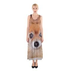 Pomeranian Sleeveless Maxi Dress