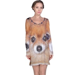 Pomeranian Long Sleeve Nightdress