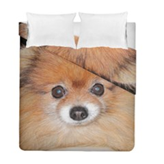 Pomeranian Duvet Cover Double Side (Full/ Double Size)