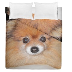 Pomeranian Duvet Cover Double Side (Queen Size)
