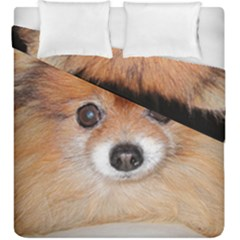 Pomeranian Duvet Cover Double Side (King Size)