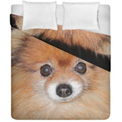 Pomeranian Duvet Cover Double Side (California King Size)