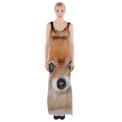 Pomeranian Maxi Thigh Split Dress