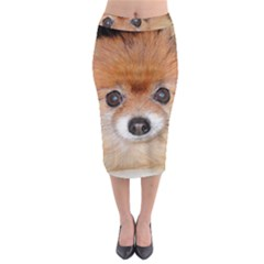Pomeranian Midi Pencil Skirt
