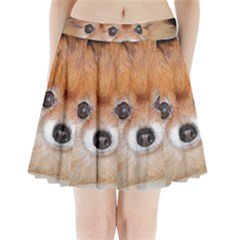 Pomeranian Pleated Mini Skirt