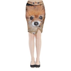 Pomeranian Midi Wrap Pencil Skirt