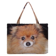 Pomeranian Medium Zipper Tote Bag