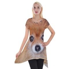 Pomeranian Short Sleeve Side Drop Tunic
