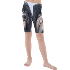 Tibet Terrier  Kids  Mid Length Swim Shorts