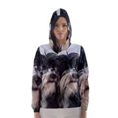 Tibet Terrier  Hooded Wind Breaker (Women)