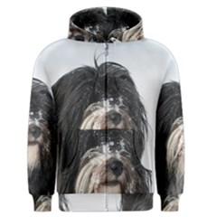 Tibet Terrier  Men s Zipper Hoodie
