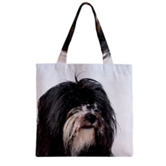 Tibet Terrier  Zipper Grocery Tote Bag