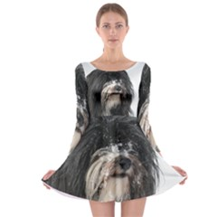 Tibet Terrier  Long Sleeve Skater Dress