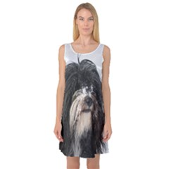 Tibet Terrier  Sleeveless Satin Nightdress