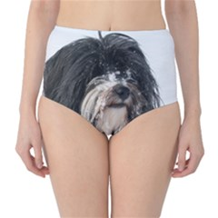 Tibet Terrier  High-Waist Bikini Bottoms