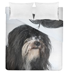 Tibet Terrier  Duvet Cover Double Side (Queen Size)