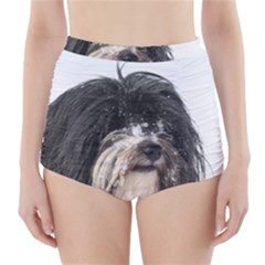Tibet Terrier  High-Waisted Bikini Bottoms