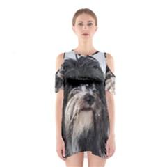 Tibet Terrier  Cutout Shoulder Dress