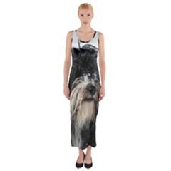 Tibet Terrier  Fitted Maxi Dress
