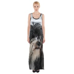 Tibet Terrier  Maxi Thigh Split Dress