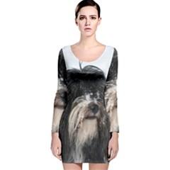 Tibet Terrier  Long Sleeve Velvet Bodycon Dress
