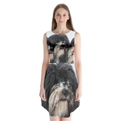 Tibet Terrier  Sleeveless Chiffon Dress