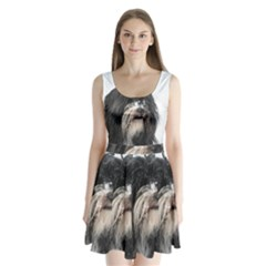 Tibet Terrier  Split Back Mini Dress