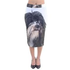 Tibet Terrier  Velvet Midi Pencil Skirt