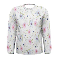 Floral Pattern Background Men s Long Sleeve Tee
