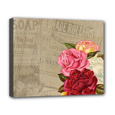 Flower Floral Bouquet Background Deluxe Canvas 20  x 16