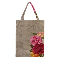 Flower Floral Bouquet Background Classic Tote Bag