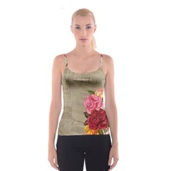 Flower Floral Bouquet Background Spaghetti Strap Top