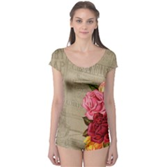 Flower Floral Bouquet Background Boyleg Leotard