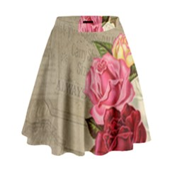 Flower Floral Bouquet Background High Waist Skirt
