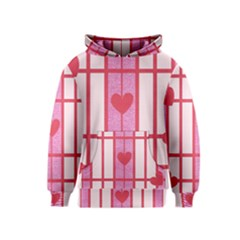 Fabric Magenta Texture Textile Love Hearth Kids  Pullover Hoodie
