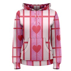 Fabric Magenta Texture Textile Love Hearth Women s Pullover Hoodie