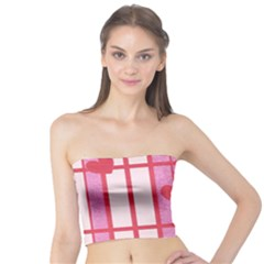 Fabric Magenta Texture Textile Love Hearth Tube Top
