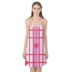 Fabric Magenta Texture Textile Love Hearth Camis Nightgown