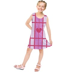 Fabric Magenta Texture Textile Love Hearth Kids  Tunic Dress
