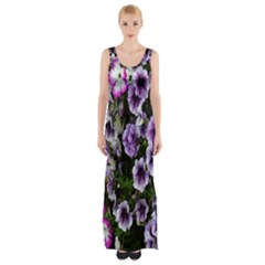 Flowers Blossom Bloom Plant Nature Maxi Thigh Split Dress