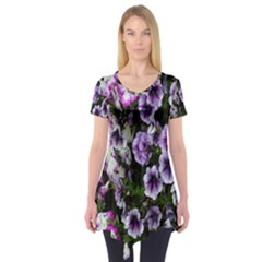 Flowers Blossom Bloom Plant Nature Short Sleeve Tunic