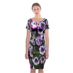 Flowers Blossom Bloom Plant Nature Classic Short Sleeve Midi Dress