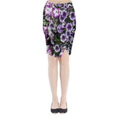 Flowers Blossom Bloom Plant Nature Midi Wrap Pencil Skirt