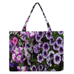 Flowers Blossom Bloom Plant Nature Medium Zipper Tote Bag