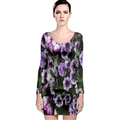 Flowers Blossom Bloom Plant Nature Long Sleeve Bodycon Dress